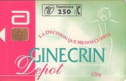 TARJETA TELEFONICA DE ESPAÑA USADA. 03.97 - TIRADA 9100 (457). GINECRIN. - Spain