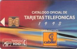 TARJETA TELEFONICA DE ESPAÑA USADA. 05.94 - TIRADA 3000 (458). CATALOGO CABITEL. - Spain