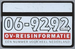 NL.- Telefoonkaart. PTT Telecom. 4 Eenheden. OV-REISINFORMATIE. EEN NUMMER VOOR HEEL NEDERLAND. 247A - Reclame