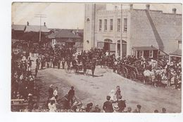 VIRDEN, Manitoba, Canada, Fire Brigade & Equipment, Pre-1920 Postcard - Autres