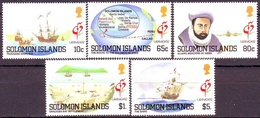 SOLOMON - SHIP - MAPS- Capt. ALVAO MENDANA - PHILAT. EXHIBITION GRANADA  - **MNH - 1992 - Philatelic Exhibitions