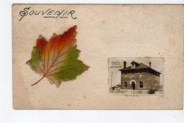NEEPAWA, Manitoba, Canada, Real Photo Of Union Bank, Pre-1920 Felt Maple Leaf Add-On Postcard - Autres