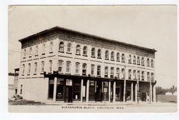 EMERSON, Manitoba, Canada, Alenandria Block & Stores, 1927 RPPC - Autres