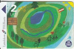 LATVIA - Children Painting, Exp.date 04/02, Used - Latvia