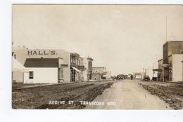 TRANSCONA, Manitoba, Canada, Both Sides Of Regent (Main) Street & Stores, Pre-1919 RPPC - Autres