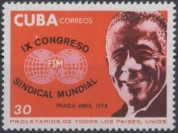 1978.95 CUBA 1978 MNH. Ed.2460. CONGRESO SINDICAL MUNDIAL. LAZARO PEÑA. - Cuba