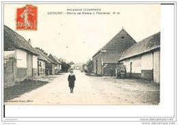 LICOURT PRES DE MARCHELEPOT ROUTE DE NESLE A PERONNE CPA BON ETAT - France