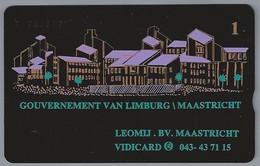 NL.- Telefoonkaart. PTT Telecom. 4 Eenheden. GOUVERNEMENT VAN LIMBURG \ MAASTRICHT. LEOMIJ.BV. VIDICARD. 249A - Reclame