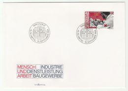 1984 LIECHTENSTEIN FDC Medicine INJECTION  Health Stamps Cover Pharmacy - Medicine