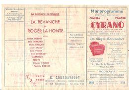 Programme Mon Programme Offert Par La Direction Du Cinéma Palace A Cyrano 76 Rue De La Roquette Paris De 1946 - Programmes