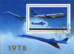 DPR Korea (Coree Du Nord) 1978 Airplane, Aviation Used Cancelled Block M/S (U-44) - Korea, North