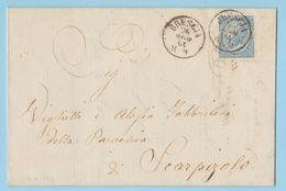 De La Rue 15c. Sass. L18 Su Piego Brescia Per Scarpizzolo 26.8.1864 (2 Foto) - 1861-78 Vittorio Emanuele II
