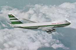 Postcard Cathay Pacific's Rolls Royce Powered Boeing 747 - 200B [ Airline Issue ]  My Ref  B22332 - 1946-....: Modern Era