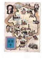 Carte Géographique Du Berry Le Berry Costume Folklore CPSM GF Carte Non Voyagée - Carte Geografiche