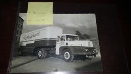 Rare Photo 16.5X23 Camion Saurer Transport Robin Montsurs - Automobile