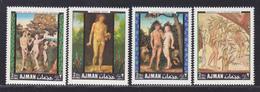 AJMAN AERIENS N°   33 ** MNH Neufs Sans Charnière, 4 Valeurs, TB (D5195) Tableaux, Adam Et Eve - Ajman