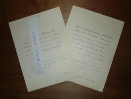 FAIRE-PART MARIAGE 1922 CHENEBY # COLARDELLE BERTRAND Algérie Lunéville Lorraine - Mariage