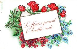 Les Fleurs Passent L'Amitié Reste - Paillettes - Flores
