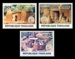 Togo 2010 Mih. 3589/91 Pan African Postal Union. Traditional Dwellings Of Tamberma MNH ** - Togo (1960-...)