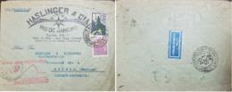 L) 1933 BRAZIL, MERCURY, 700 REIS, VIOLET, VIA CONDOR ZEPPELIN, TRANSATLANTIC AIR SERVICE, CIRCULATED COVER FROM BRAZIL - Brazil
