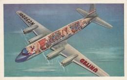 United Airlines Mainliner Cut-away View Of Airplane In Flight, C1940s/50s Vintage Postcard - 1946-....: Era Moderna