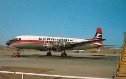 Germanair DC-6 At Copenhagen Denmark Airport, C1970s Vintage Postcard - 1946-....: Moderne