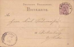 ALLEMAGNE - 1886 - Carte Lettre - ENTIER POSTAL - CACHET  EMPFINGEN TO ROTTENBURG AMNECKAR - Covers & Documents