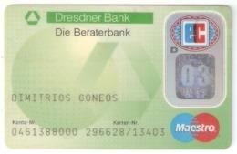 Dresdner Bank Card - Cartes De Crédit (expiration Min. 10 Ans)