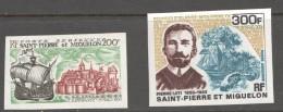 1969  Navire L'Espérance Et Pierre Loti, écrivain  Poste Aérienne 46-7 NON-DENTELÉS **  NMH - St.Pierre Et Miquelon