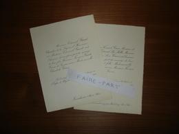FAIRE-PART MARIAGE 1925 GAST # GROS Issenheim Stoerenbourg Wesserling Alsace - Mariage