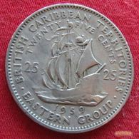 British Caribbean Territories 25 Cent 1959 KM# 6 Caraibas Caraibes Orientales - East Caribbean States