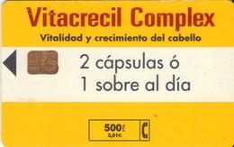 TARJETA TELEFONICA DE ESPAÑA USADA. 03.01 - TIRADA 13800 (464). VITACRECIL COMPLEX. - Spain