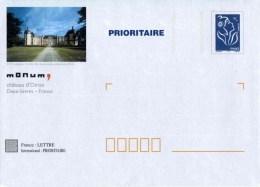 """PAP TSC Avec """"Marianne De Lamouche - Bleu"""" Et Illustration """"Château D'Oiron (79)"""" - Entiers Postaux"""