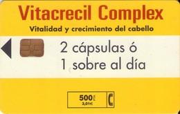 TARJETA TELEFONICA DE ESPAÑA USADA. 07.00 - TIRADA 7500 (465). VITACRECIL COMPLEX. - Spain