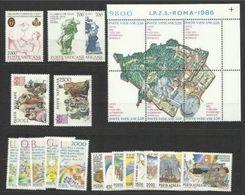 1986 Vaticano Vatican PONTIF.GIOVANNI PAOLO II ANNATA  YEAR 5 Serie Con Posta Aerea MNH** - Annate Complete