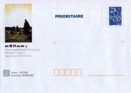 """PAP TSC Avec """"Marianne De Lamouche - Bleu"""" Et Illust. """"Sites Mégalithiques De Carnac - Alignements De Kermario (56)"""" - Postal Stamped Stationery"""
