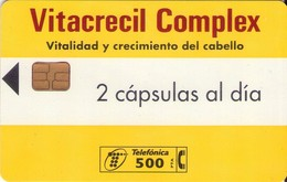 TARJETA TELEFONICA DE ESPAÑA USADA. 03.97 - TIRADA 17000 (466). VITACRECIL COMPLEX. - Spain