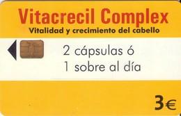 TARJETA TELEFONICA DE ESPAÑA USADA. 04.03 - TIRADA 11100 (467). VITACRECIL COMPLEX. - Spain