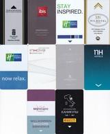 LOTTO 10 KEY CARD HOTEL ITALIA,ISRAEL,FRANCIA - Chiavi Elettroniche Di Alberghi