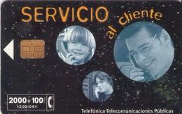 TARJETA TELEFONICA DE ESPAÑA USADA. 02.99 - TIRADA 32000 (468). SERVICIO AL CLIENTE. - Spain