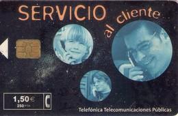 TARJETA TELEFONICA DE ESPAÑA USADA. 07.01 - TIRADA 37700 (469). SERVICIO AL CLIENTE. - Spain
