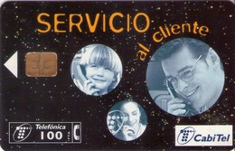 TARJETA TELEFONICA DE ESPAÑA USADA. 11.98 - TIRADA 55000 (470). SERVICIO AL CLIENTE. - Spain