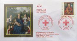 """FRANCE 3840 FDC Premier Jour Croix-Rouge Tableau """"Vierge à L'Enfant"""" Martin Van Nieuwenhoven Peintre Flamand H. Memling - FDC"""