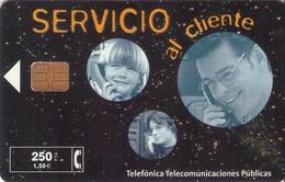 TARJETA TELEFONICA DE ESPAÑA USADA. 02.99 - TIRADA 32000 (472). SERVICIO AL CLIENTE. - Spain
