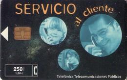 TARJETA TELEFONICA DE ESPAÑA USADA. 02.01 - TIRADA 18000 (473). SERVICIO AL CLIENTE. - Spain