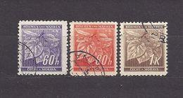 Bohemia & Moravia Böhmen Und Mähren 1941 Gest ⊙ Mi 65-67 Sc 49-51 Lindenzweig Mit Lindenfrüchten II. Linden Leaves C2 - Used Stamps