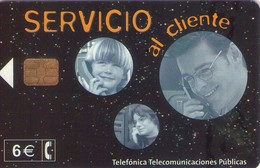 TARJETA TELEFONICA DE ESPAÑA USADA. 05.02 - TIRADA 21000 (476). SERVICIO AL CLIENTE. - Spain