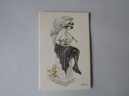BIO-TEX, Mooie Dame Met Paraplu - Otros Ilustradores
