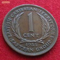 British Caribbean Territories 1 Cent 1955 KM# 2 Caraibas Caraibes Orientales - East Caribbean States
