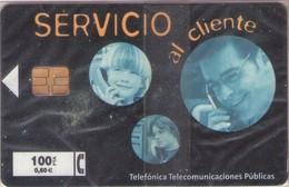 TARJETA TELEFONICA DE ESPAÑA NUEVA.CON BLISTER, MINT 10.99 - TIRADA 31000 (478). SERVICIO AL CLIENTE. - Spain